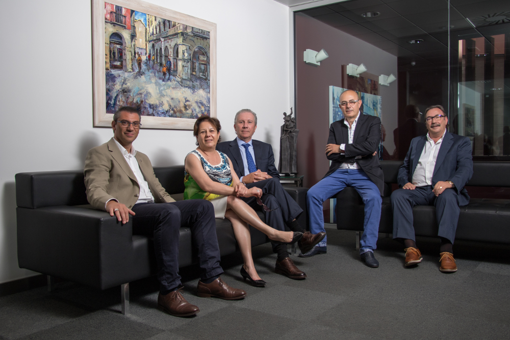 Equip consell Arnó: Julián Sequeros, Jaume Arnó, Joan Albert Arqués, Aurora Arnó, Jordi Costa
