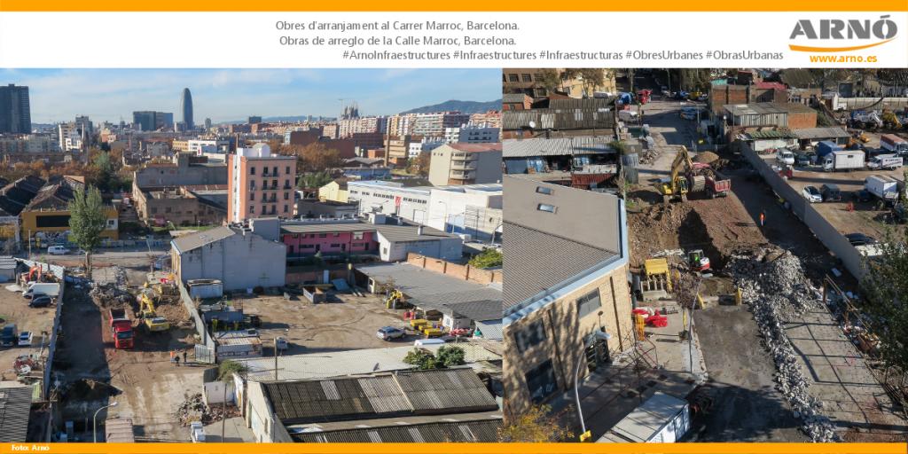Carrer Marroc-Barcelona-Arno Obres Urbanes Obras Urbanas Ciutat ciudad