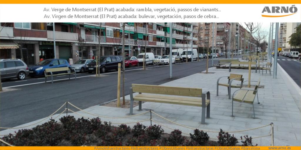Verge-Montserrat-El-Prat-Arno Obres Urbanes Obras Urbanas Ciutat ciudad