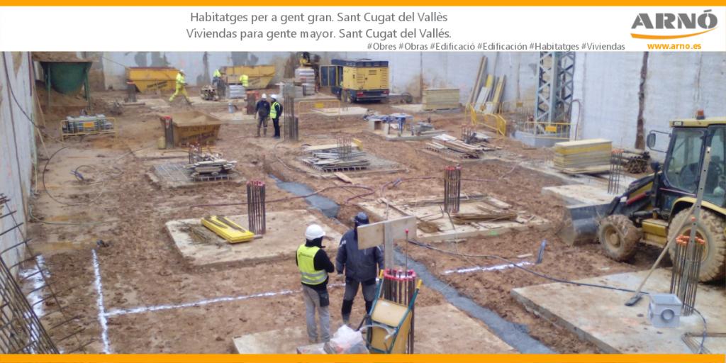 Cimentación viviendas para gente mayor. Fonamentació habitatges per a gent gran a Sant Cugat del Valles. Promusa. Benito Arnó