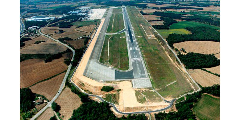 Obras aeropuerto de Girona-Arno