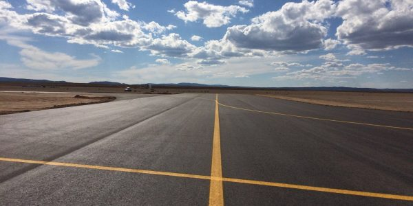 Aeropuerto de Teruel-obras de pavimentación-Arno