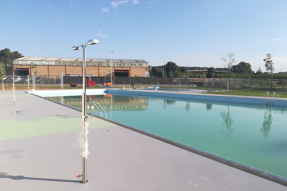 duchas y pruebas de llenado piscina municipal alpicat-arno