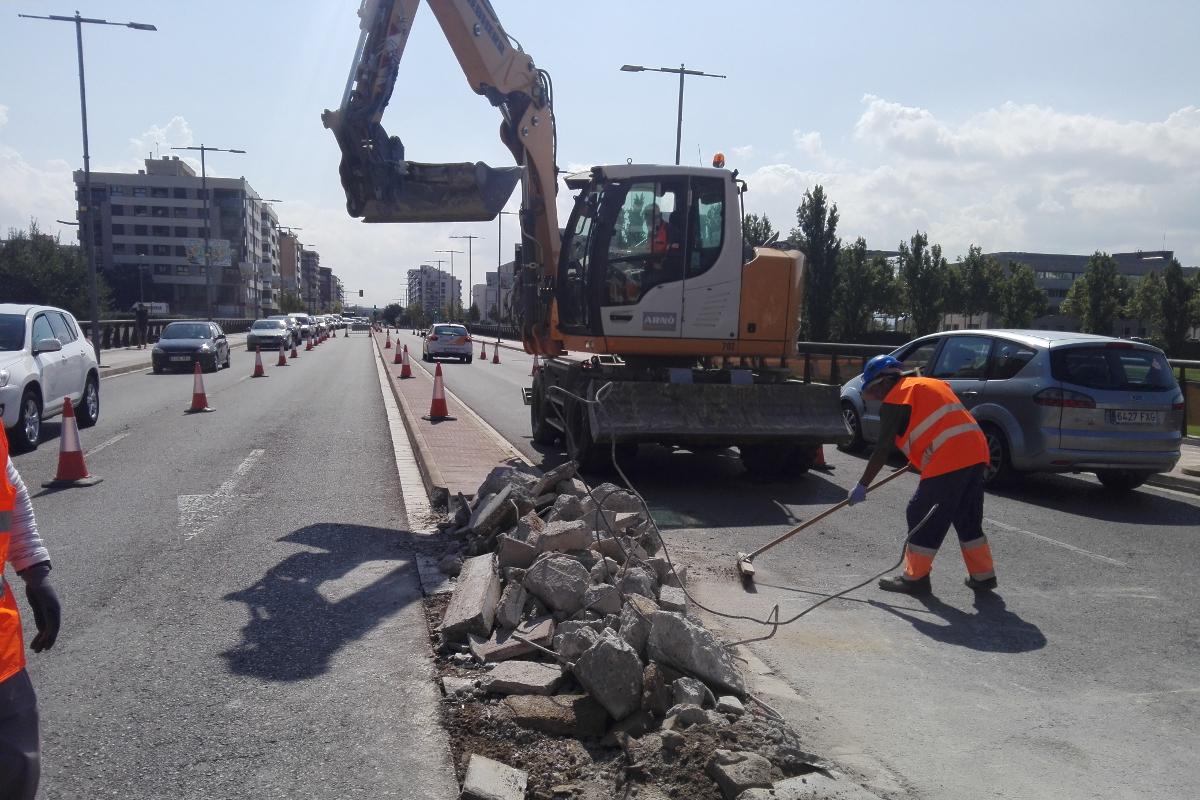Eliminación de la mediana en el puente de la Universidad. Lleida. Arnó