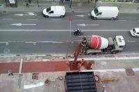 Extensión de hormigón tintado para el carril bici, Lleida. Arnó
