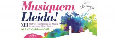 Cartel del festival internacional Musiquem lleida 2018, del cual Arnó es patrocinador