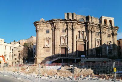 inicio de las obras en la plaza de la catedral de Tortosa-benito arno