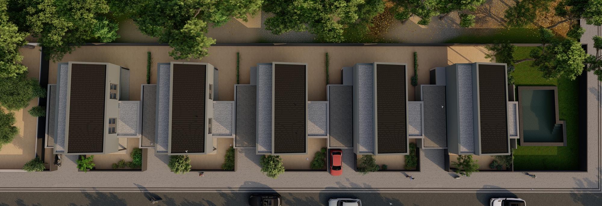 casas unifamiliares en vista cenital